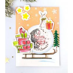 Подарочки, набор для создания открытки-шейкер 11х15см АртУзор