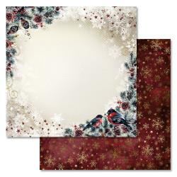 Морозное утро, коллекция Новогоднее счастье, бумага для скрапбукинга 30,5x30,5см 180г/м ScrapMania