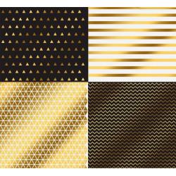 Геометрия, односторонняя бумага для скрапбукинга с фольгированием 30,5х30,5см 250г/м2 АУ
