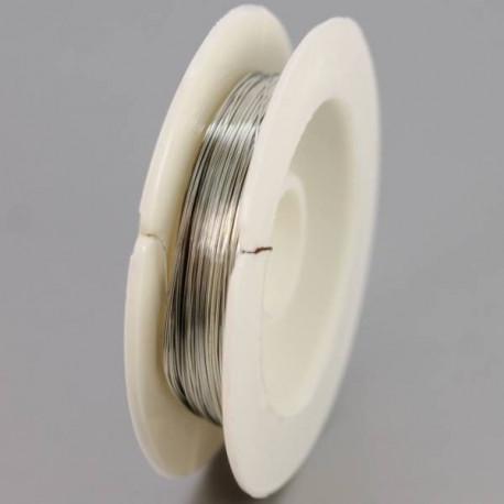 Под серебро, проволока для бисера d 0.4мм 10м, Gаmma