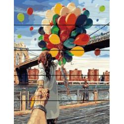 Следуй за мной. Бруклин, раскраска по номерам на дереве 40х50см 27цв Планета Картин