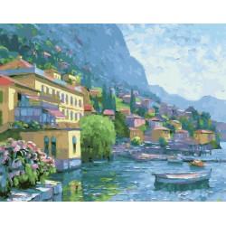 Побережье Италии, раскраска по номерам на холсте 40х50см 29цв Планета Картин