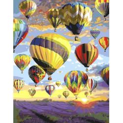 Полёт над лавандовым полем, раскраска по номерам на холсте 40х50см 30цв Планета Картин