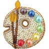 Палитра, набор для изготовления броши из бусин и бисера, 5,5х6см ЧМ