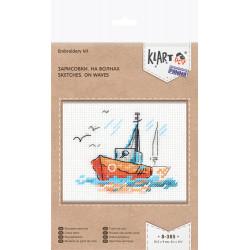 Зарисовки. На волнах, набор для вышивания крестиком, 10.5х10см, 11цветов Кларт