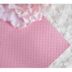 Розовый крестик, кожа искусственная 33х69(±1см) плотность 440 г/кв.м.