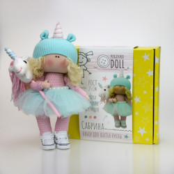 Сабрина, набор для шитья куклы 24см. Pugovka Doll
