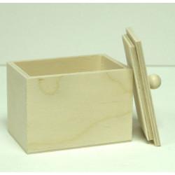 Коробочка чайная маленькая, заготовка для декорирования фанера 6-9мм 10,5х7х7,8см NZ