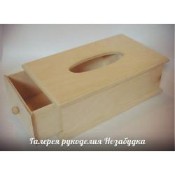 Салфетница, заготовка для декорирования фанера 8мм 27х15,5х9,5см NZ