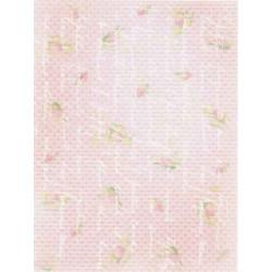 Розовый строки, дизайнерская канва №18, 21х30см. М.П.Студия