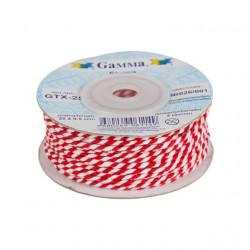 Красно-белый, шнур витой 2мм, 1м, Gamma