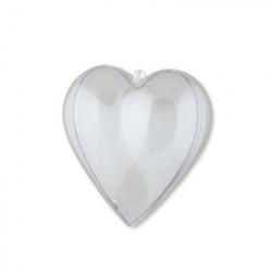 Сердце, заготовка для декорирования, пластик d 10х9,8х5,6см, Love2Art