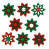 Рождественские цветы 8шт, набор пуговиц. Dress It Up