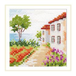 Дорога к морю, набор для вышивания крестиком, 7х7см, 16цветов Алиса
