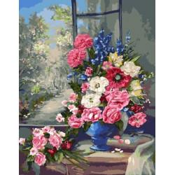Разноцветье (худ. Anca Bulgaru), раскраска по номерам на холсте 40х50см 27цв Планета Картин