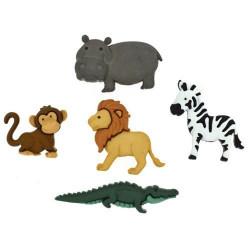 Животные Ноя, набор пуговиц 5шт пластик Dress It Up