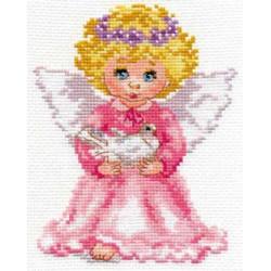 Ангелочек, набор для вышивания крестиком, 12х14см, 19цветов Алиса