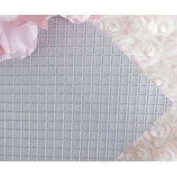Серебро в квадратик, кожа искусственная 33х69(±1см) плотность 440 г/кв.м.