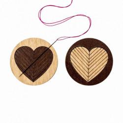 Сердце, двусторонний магнитный держатель для игл фанера 3,5см ВС