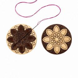 Цветок, двусторонний магнитный держатель для игл фанера 3,5см ВС