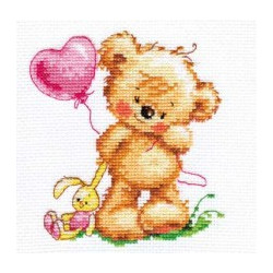 Мишутка-лапочка, набор для вышивания крестиком, 11х12см, 15цветов Алиса