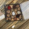 Листва, органайзер для бусин и бисера с прозрачной крышкой 22ячейки 14х14см фанера ВС