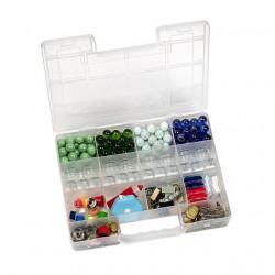 Коробка пластик для швейных принадлежностей 14ячеек, 27.3х22х5см