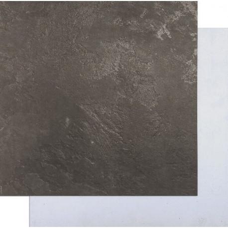 Белый бетон-Чёрный, фотофон двусторонний 45х45см картон