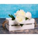 Ящик реечный с ручками, белый, 24,5х13,5х9см SL
