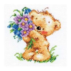 Поздравляю!, набор для вышивания крестиком, 11х12см, 18цветов Алиса