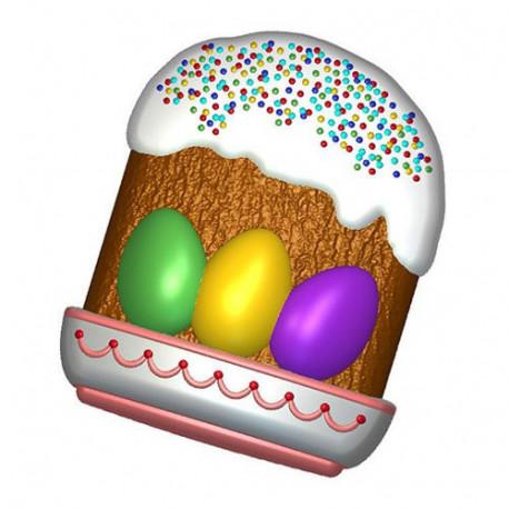 Кулич с яйцами, пластиковая форма БП