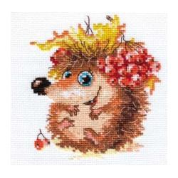 Осенний ежонок, набор для вышивания крестиком, 11х12см, 15цветов Алиса