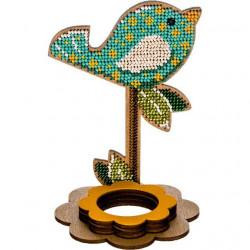 Птичка подставка под яйцо, набор для выш-ия бисером на перфорированной основе двп 9,5х12,5см 10цв ВС