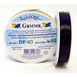 Черный, леска для бисера d 0.3мм 100м, Gаmma