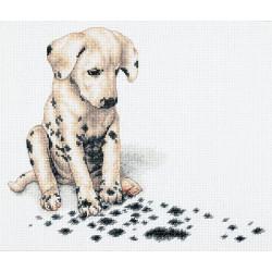 Апчхи!, набор для вышивания крестиком, 30х25см, 12цветов Dimensions