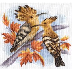 Удоды, набор для вышивания крестиком, 20х20см, 27цветов Panna