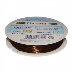 Коричневый, спандекс без оплетки d 1 мм  18 м, GAMMA
