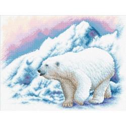 Белый мишка, набор для вышивания крестиком, 33х25см, 25цветов Panna