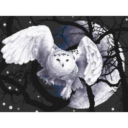 Белая сова, набор для вышивания крестиком, 36х27см, 7цветов Panna