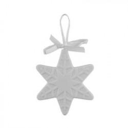 Звезда, заготовка для декорирования, фарфор 7,5х8х0,7см, Love2Art
