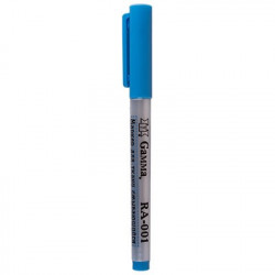Голубой, маркер для ткани смываемый водой. Gamma