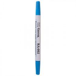 Голубой, маркер двухсторонний для ткани смываемый водой. Gamma