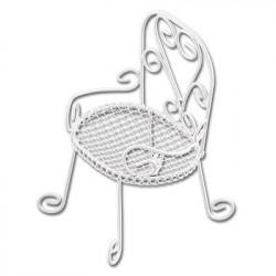 Кресло, заготовка для декорирования металл 8х6х12см. Blumentag