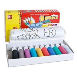Набор красок для создания витража 10цветов Луч
