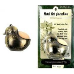 Металлическая птица-игольница Винтаж