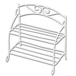 Скамейка, заготовка для декорирования металл 8х3,5х8,5см. Blumentag