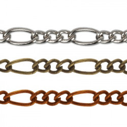 Под серебро, цепочка декоративная 2х3, 6.1х2.8мм 1м железо Micron