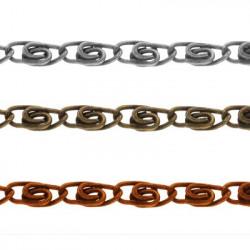Под серебро, цепочка декоративная 7.7х3мм 1м железо Micron