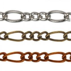 Под бронзу, цепочка декоративная 4х6, 10.6х5.2мм 1м железо Micron