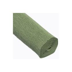 Оливковый, креп(гофробумага), 2,5*0,5м